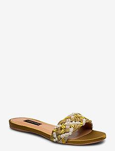 Alaia, 888 Alaia Sandal - platte sandalen - gold