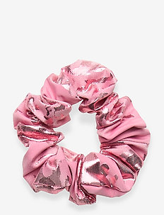 Scrunchy, 856 Metallic Jacquard - hair accessories - rose lurex