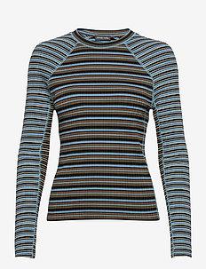 Samara 909, Rib T-shirt - langærmede toppe - stripe ice