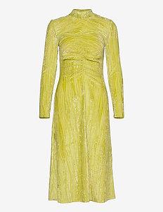 Asher, 910 Velvet Devoré - midi kjoler - wave lime