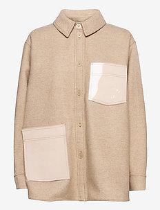 Silvi, 934 Wool Overshirt - overshirts - beige