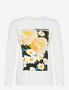 Roxanne, 1000 Placement Tee - long-sleeved tops - poppy