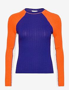 Samara, 1044 Rib T-shirt - long-sleeved tops - royal mix