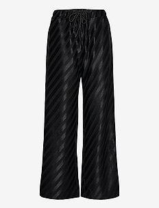 Danny, 1005 Stretch Jacquard - vide bukser - diagonal stripes