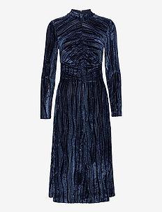 Asher, 1008 Velvet Devoré - midi kjoler - wave midnight