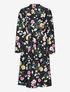 Jay, 1037 Floral Poly - midi kjoler - poppy