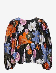 Gara, 1035 Organza - långärmade blusar - botanical