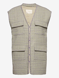Leona, 1120 Boucle - knitted vests - lilac