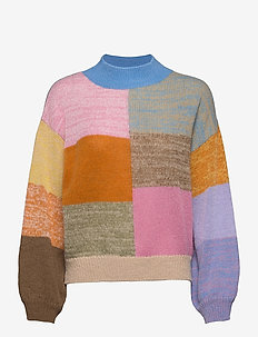 Adonis, 1144 Gingham Knit - neulepuserot - multicolour