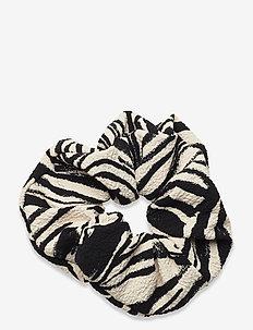 Scrunchy, 1092 Structure Stretch - accessoarer - zebra black