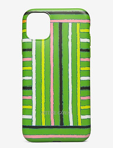 Molly, iPhone Cover 11 - mobilskal - stripes green