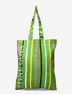 Rita, 1197 Tote Bag - tote bags - stripes green