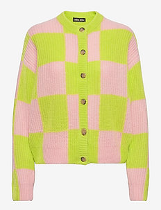 Harry, 1270 Fair Isle Knit - cardigans - lime check