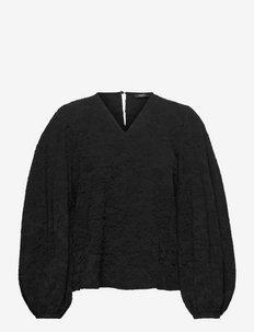 Ida, 1230 Solid Stretch - blouses met lange mouwen - black