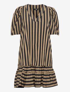 Miah, 1247 Taffeta - alledaagse jurken - stripes