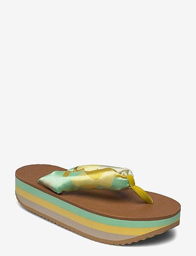Trine, 889 Trine Sandals - platta sandaler - camouflage green