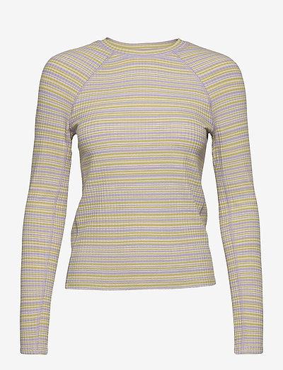 Samara, 1084 Rib Jersey - tops met lange mouwen - iris stripes