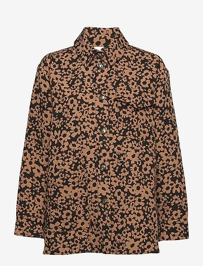 Silvi, 1033 Stretch Jacquard - langærmede skjorter - daisy