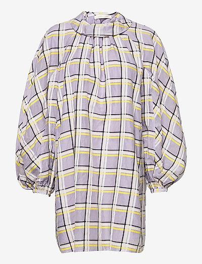 Samantha, 1094 Checkered Organza - summer dresses - checks