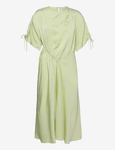 Davina, 1110 Viscose Twill - cocktailklänningar - fog green