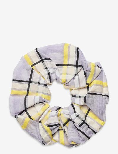 Scrunchy, 1094 Checkered Organza - accessories - checks