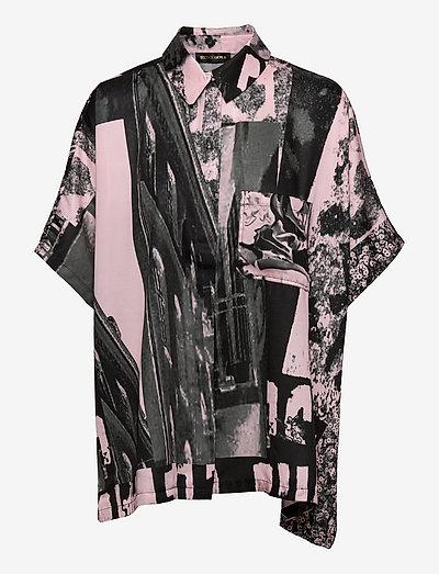 Luna, 1186 Poly Twill - langærmede bluser - pompette rosado