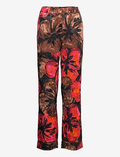 Charlotte, 1167 Pajama Jacquard - casual bukser - opium brown