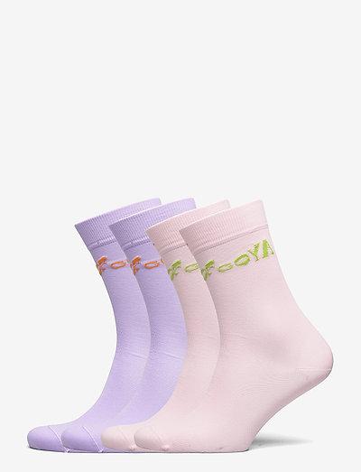 Leira, 1207 Rib Socks - sokker - lilac pink
