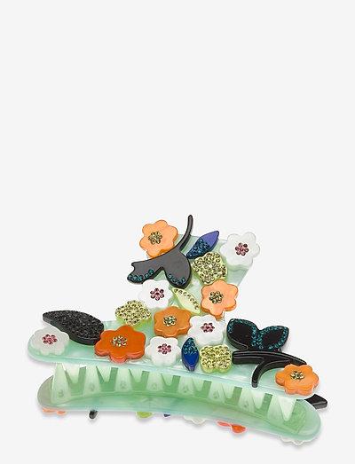 Crocodile, 1204 Hair Accessories - hair pins - aqua