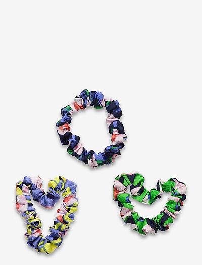 Scrunchy Pack, 1169 Textured Poly - scrunchies - flowermarket mix