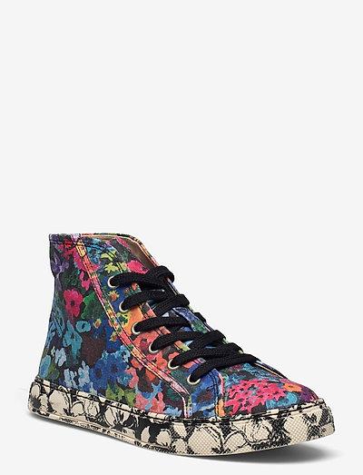 Zita, 1192 Cotton Canvas Sneakers - lave sneakers - 60s allover