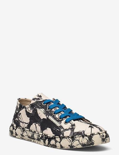 Eneko, 1192 Cotton Canvas Sneakers - lave sneakers - opium negative