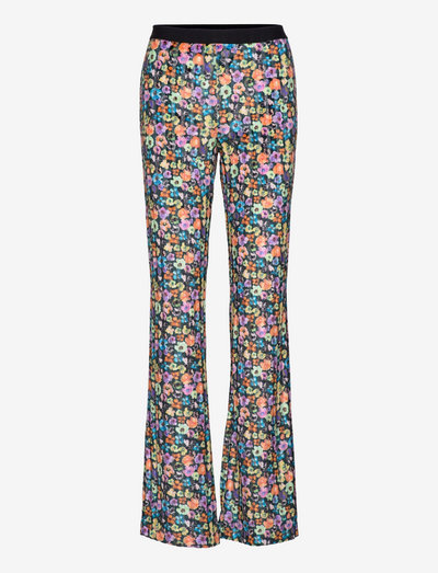 Andy, 1231 Velvet Devore - bukser med brede ben - flower euphoria