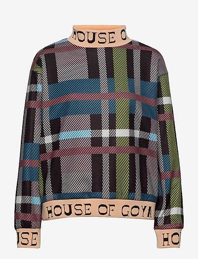 Melina, 1224 Fleece Rib - sweatshirts & hættetrøjer - checks
