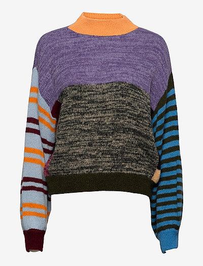 Adonis, 1273 Gingham Knit - trøjer - checks