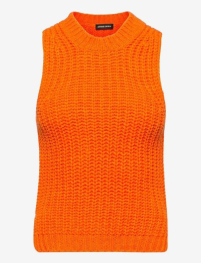 Annemarie, 1257 Chunky Knit - knitted vests - orange