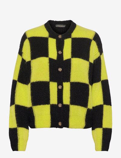 Harry, 1270 Fair Isle Knit - cardigans - check black