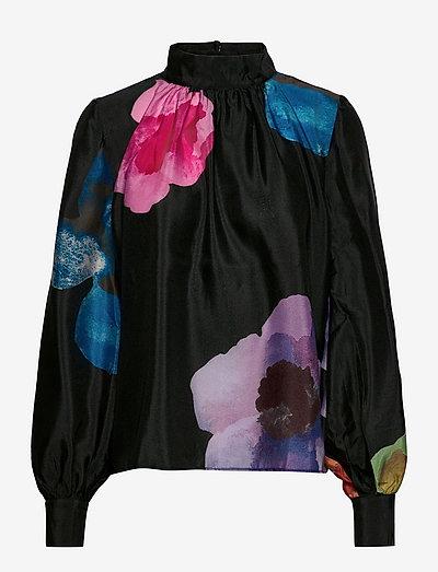 Eddy, 1246 Textured Poly - langærmede bluser - flower euphoria