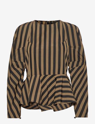 Lottina, 1247 Taffeta - langermede bluser - stripes