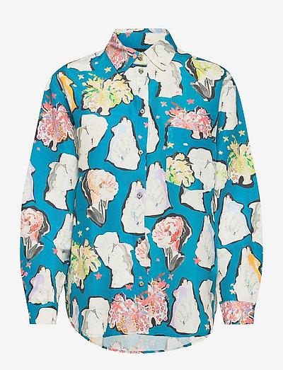 Amal, 1241 Peace Silk Pyjama - denimskjorter - elements