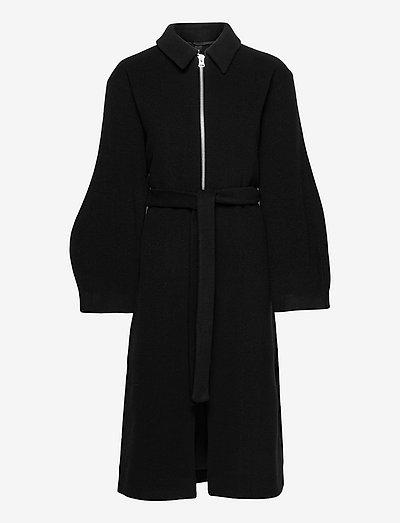 Wilma, 1258 Wool Outerwear - uldfrakker - black
