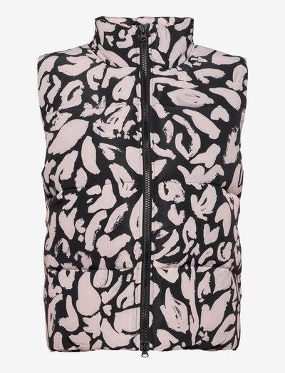 Leonor, 1256 Padded Outerwear - polstrede vester - pale pink leaf