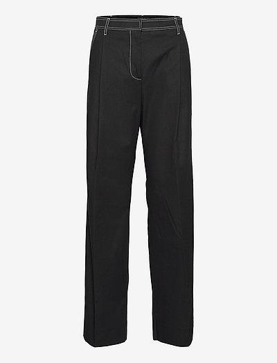 Frankie, 1284 Casual Woven - bukser med lige ben - black