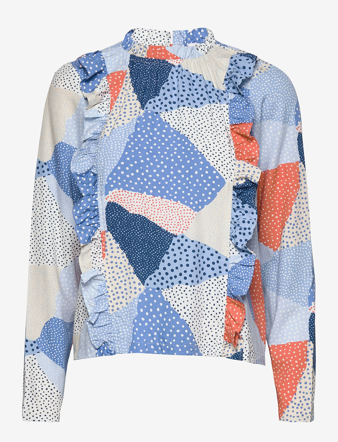 Storm & Marie Topi Blouse - Bluser & Skjorter BLUE DOT MIX - Dameklær Spesialtilbud