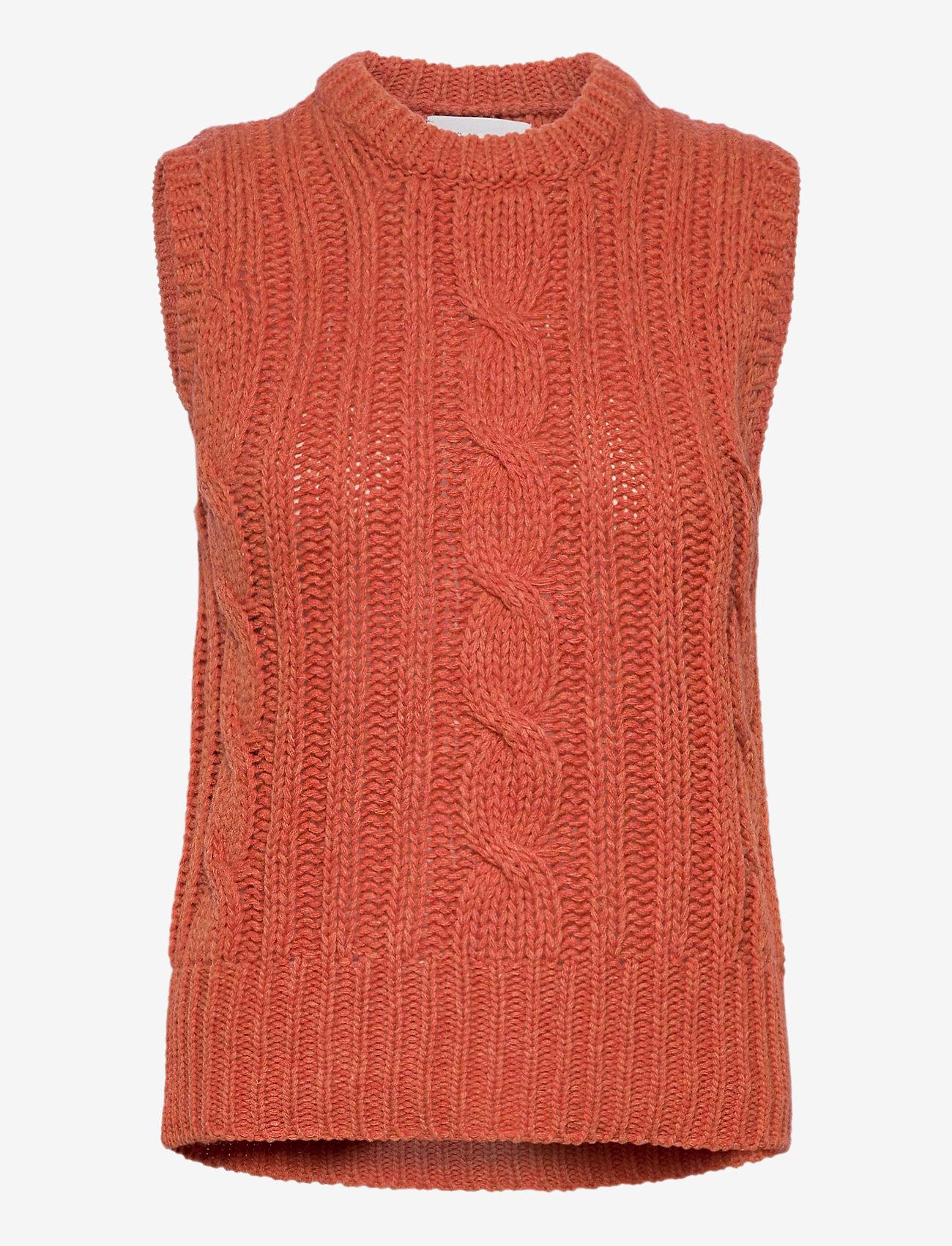 Storm & Marie - Oda Slipover - knitted vests - baked apple melange - 0