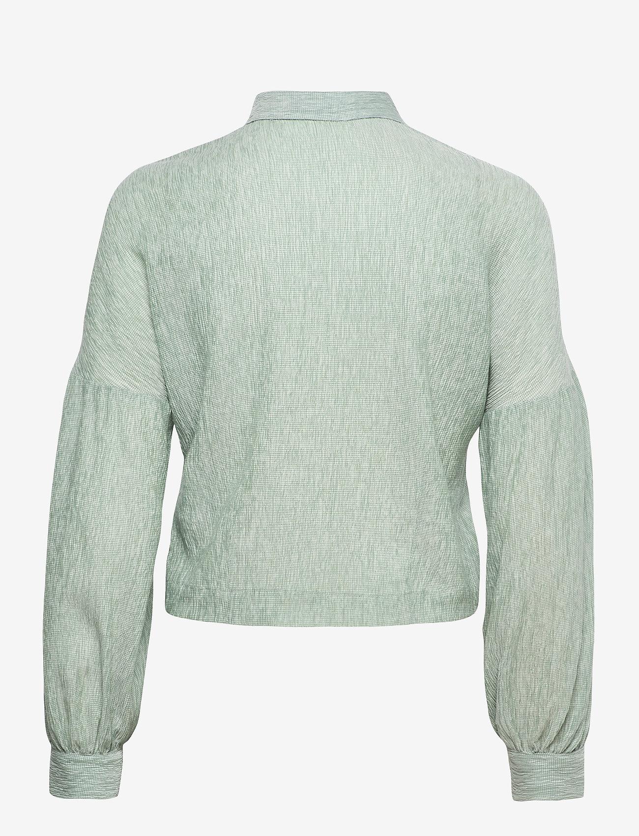 Storm & Marie - Theresa Shirt - long-sleeved shirts - quiet green - 1