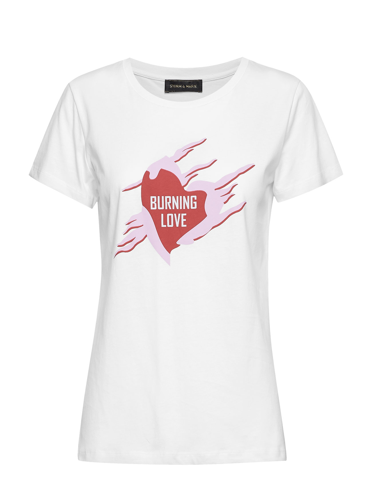 Storm & Marie BURNING-TEE - BRIGHT WHITE