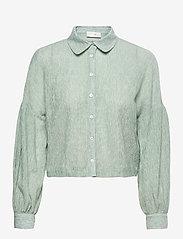 Storm & Marie - Theresa Shirt - long-sleeved shirts - quiet green - 0