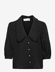 Storm & Marie - Faith Blouse - long sleeved blouses - black - 0