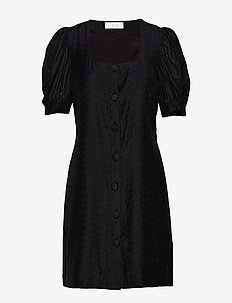 Emma Puff Dress - BLACK